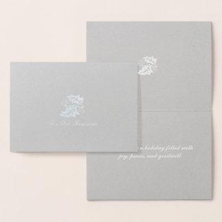 Cartão Metalizado Tis a folha de prata da estação