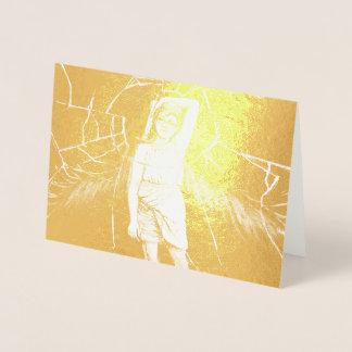 Cartão Metalizado Vidro dourado