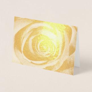 Cartão Metalizado Vintage decorativo floral da flor cor-de-rosa do