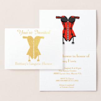 Cartão Metalizado Você é chá de panela convidado da lingerie
