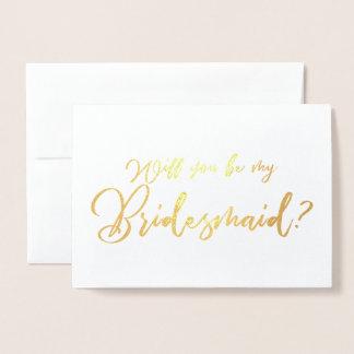 Cartão Metalizado Você será minha caligrafia do chique da dama de