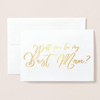 Cartão Metalizado Você será minha melhor caligrafia do chique do