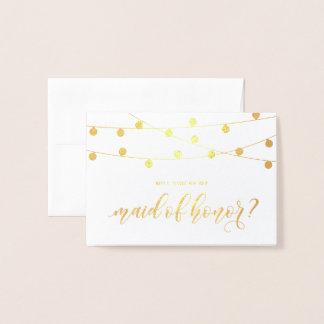 Cartão Metalizado Você será minhas luzes de suspensão da corda da