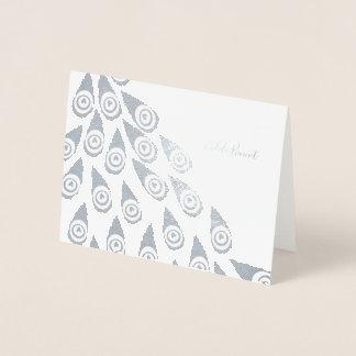 Cartão Metalizado Vôo de artigos de papelaria do nome dos direitos