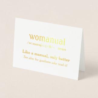 Cartão Metalizado Womanual - como um manual somente melhor!