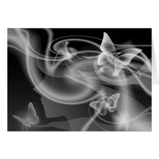 Cartão Metamophosis - menina da borboleta
