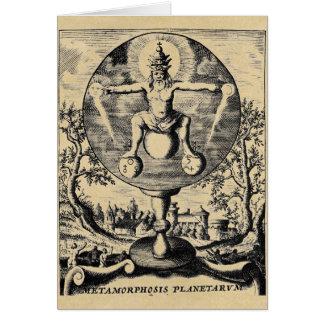 Cartão Metamorfose dos metais na alquimia