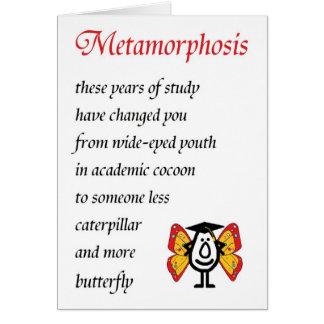 Cartão Metamorfose - um poema engraçado dos formandos