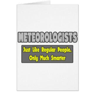 Cartão Meteorologista… mais espertos