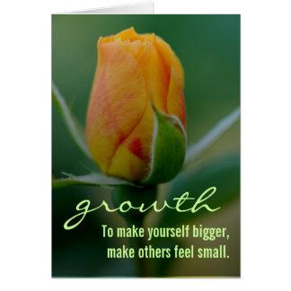 Cartão Método rápido & fácil para o crescimento pessoal
