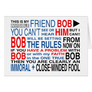Cartão Meu amigo Bob