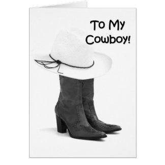 CARTÃO MEU AMOR DO KISSER DE COWBOY-FAVORITE VOCÊ