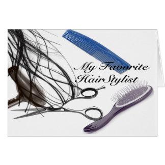 Cartão meu cabeleireiro favorito