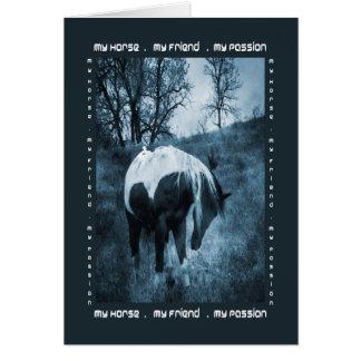Cartão Meu cavalo, meu amigo, minha paixão