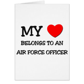 Cartão Meu coração pertence a um OFICIAL de FORÇA AÉREA
