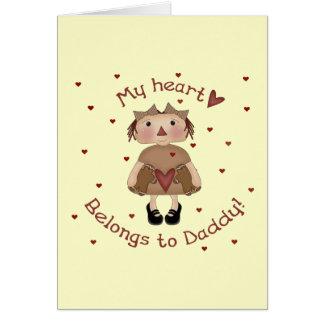 Cartão Meu coração pertence ao pai!