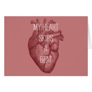 Cartão Meu coração salta uma batida