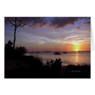 """Cartão """"Meu desejo para você"""" praia de cristal, Florida"""
