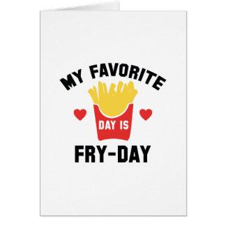 Cartão Meu dia favorito é Fritada-Dia