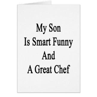 Cartão Meu filho é engraçado esperto e um grande