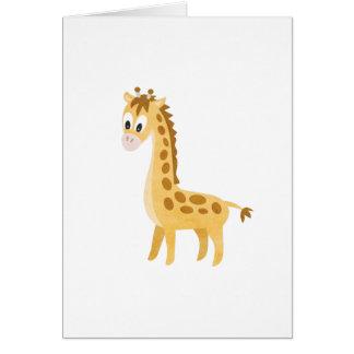 Cartão Meu girafa pequeno