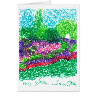 Cartão Meu jardim