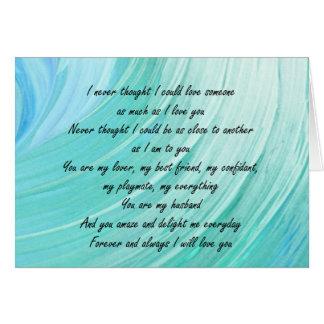Cartão Meu marido, meu tudo