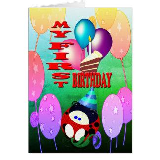 Cartão Meu primeiro aniversário