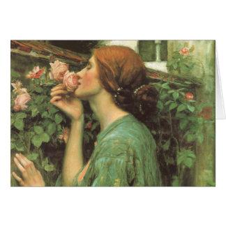 Cartão Meu rosa doce, ou alma do rosa pelo Waterhouse