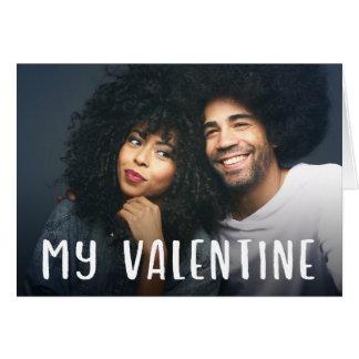Cartão Meu texto moderno simples dos namorados | e sua