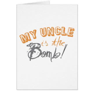 Cartão meu tio é a bomba