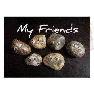 Cartão Meus amigos são rochas