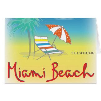 Cartão Miami Beach, Florida