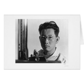 Cartão Michael Yonemitsu, técnico 1943 do raio X