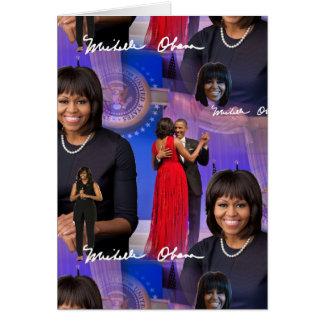 Cartão Michelle Obama
