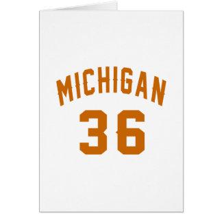 Cartão Michigan 36 designs do aniversário