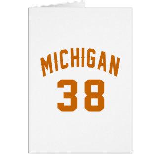 Cartão Michigan 38 designs do aniversário
