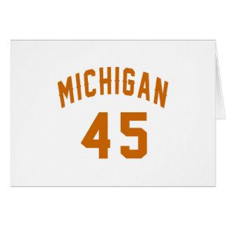 Cartão Michigan 45 designs do aniversário