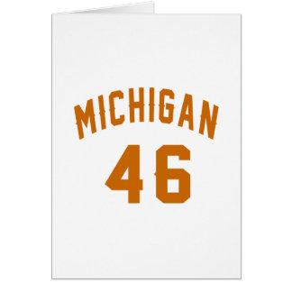 Cartão Michigan 46 designs do aniversário