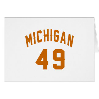 Cartão Michigan 49 designs do aniversário