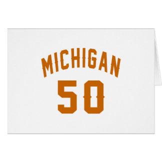 Cartão Michigan 50 designs do aniversário