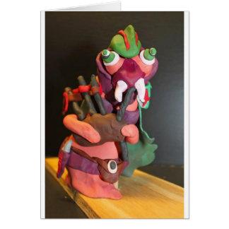 Cartão Mickey a larva joga os bagpipes