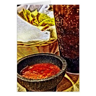 Cartão Microplaquetas e aniversário da salsa