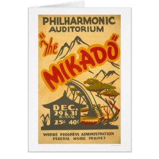 Cartão Mikado Philarmonic WPA 1938