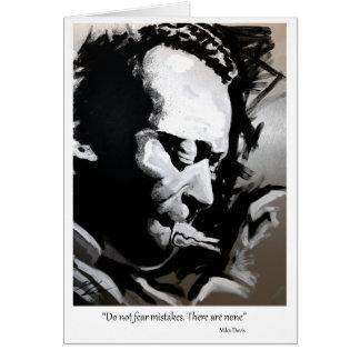 Cartão Miles Davis