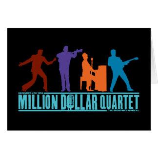 Cartão Milhão quartetos do dólar no palco