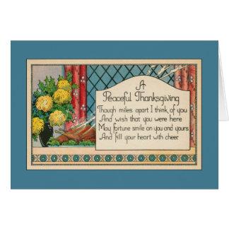 Cartão Milhas distante da acção de graças - desejando o