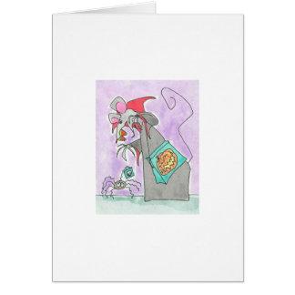 Cartão Milho de doces da contagem do Dia das Bruxas