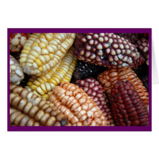 Cartão Milho no mercado de Cusco