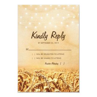 Cartão Milho rústico do trigo do país do vintage que